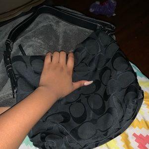 a black coach bag